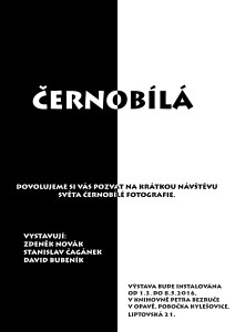 VÝSTAVA ČERNOBÍLÁ PLAKÁT