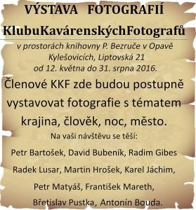 VÝSTAVA FOTOGRAFIÍ KKF